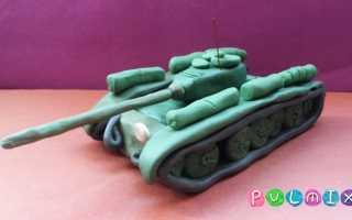Легкий танк делать из пластилина. Как слепить танк из пластилина. Как сделать танк из пластилина