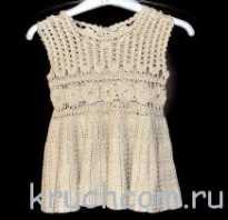 Ажурные детские вязаные платья. Как вязать детские платья крючком: схемы и описание